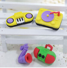 4 x Novelty Kid Keyboard Musical Instrument Erasers Rubbers Party Bag Gift