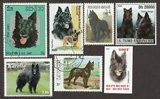 BELGIAN SHEEPDOG GROENENDAEL * Int'l Postage Stamp Art Collection **Gift Idea **