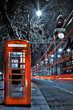 London red telephone box poster A2 t