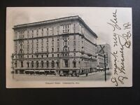 1908 Indianapolis Indiana to Syracuse New York Claypool Hotel RPPC Cover