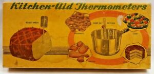 1950s Kitchen-Aid Thermometer Set Meat Candy Deep Fry Skewers Original Box 8058F