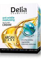 DELIA ARGAN CARE ANTI WRINKLE MOISTURIZING DAY NIGHT CREAM HYALURONIC ACID