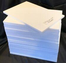 "NEW 25 pcs Styrofoam 9 1/4"" X 14"" X 1/2"" Project Craft School Packing Sheets"