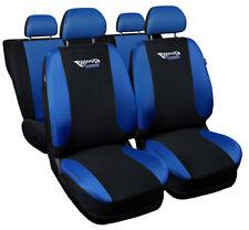 Seat covers fit Audi A6 C4 C5 C6 C7 FULL SET black/blue  sport style
