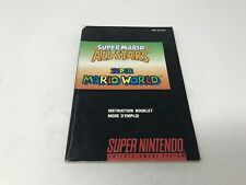 Mario World Mario All-Stars Super Nintendo SNES  Instruction Manual BILINGUAL