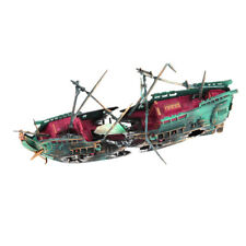 Aquarium Decorations Wreck Sunken Ship Aquarium Plastic Boat Well Fashion WH3