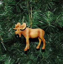 Moose (Wood Grain Style) Christmas Ornament