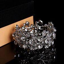 Accesorios nupciales Pulsera Crystal Diamantes Rhinestones elástico Fitness