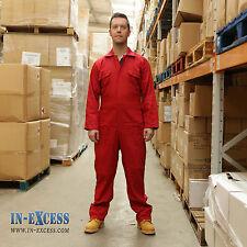 Promech Rouge Global Combinaison De protection Travail Mécanique DIY Homme