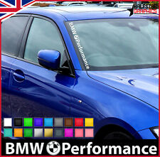 Front Side Windshield Banner Decal Vinyl Car Sticker for BMW Window Exterior