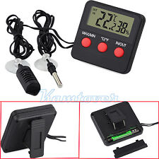 Digital Indoor/Outdoor Thermometer Hygrometer Humidity Gauge With Remote Probe
