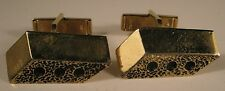 Brick Gold Tone Vintage Cuff Links Excellent Condition mason gift