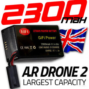 2300MaH Massive Upgrade Replacement Battery for Parrot AR Drone 2.0 Battery