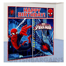 6 ft Spider-man Wall Decorating 5pc Scene Setter SpiderMan birthday party Banner