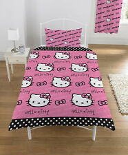Original Sanrio Hello Kitty Hearts Bed Cover 135x200cm Bed Set New Pink