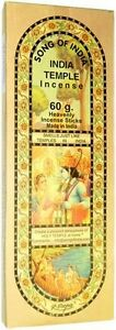 Song of India Temple Incense, Hand Rolled Large 50 Stick Pack  = buy more save