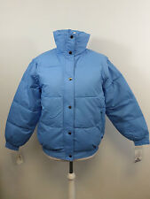Ellis Brigham Super Down Ski Jacket Pale Blue Zip Off Sleeves Size L 16 UK