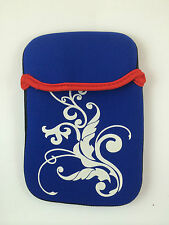 "FUNDA DE NEOPRENO CON DIBUJO DE 7"" PULGADAS PARA TABLET EBOOK COLOR AZUL"