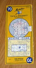 Carte MICHELIN N° 70 - Beaune - Evian 1964