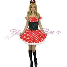 Adult Mouse Costume Fancy Dress Halloween Women Plus Size 6-18 Sexy Miss + Socks