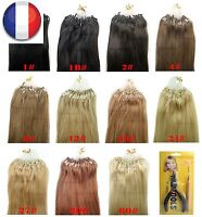 50/100/150/200 EXTENSIONS DE CHEVEUX POSE A FROID EASY LOOP NATUREL REMY 53-60CM
