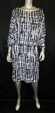 JONES STUDIO SEPARATES NEW Black/Blue Print Slit Sleeve Blouson Dress sz XL