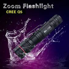 ULTRAFIRE Mini 3-MODE 8W 1000Lm CREE Q5 LED Zoomable Zoom Flashlight Torcia Luce