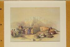 Lithographie David Roberts Petra Tombe d'Aaron au sommet du mont Hor