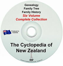 Family History Tree Genealogy Cyclopedia of New Zealand 6 Volumes Historic 2 DVD