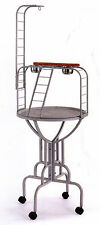 "Elegant 67"" Design Metal Pan & Long Neck Ladder Toy Hook Parrot Bird Stand 285"