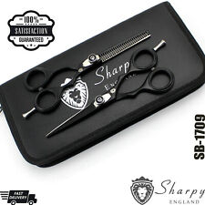 "5.5"" BARBER SCISSORS SHEARS TITANIUM PROFESSIONAL SALON HAIRDRESSING SHARP EDGE"