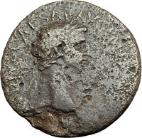 CLAUDIUS 50AD Rome Authentic Original Sestertius Ancient Roman Coin i64884