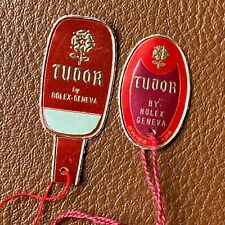 2 New Old Stock RARE TUDOR BY ROLEX ROSE PAPER HANG TAGS REF 7923, 7928, 7016
