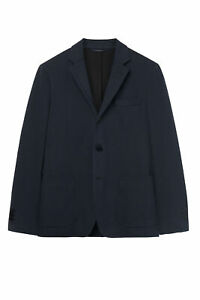 GANT Diamond G Men's Marine Jersey Travel Blazer 76463 $475 NWT