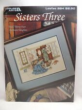 Paula Vaughan Sisters Three Cross Stitch Pattern Leaflet 884 Book 32