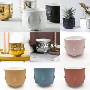 Creative Design Multi Face Planter Nordic Ceramic 3D Flower Pot Decoration