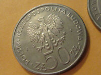 1981 Poland Coin 50 Zlotych  world food day coins 2  with org package  F.A.O.