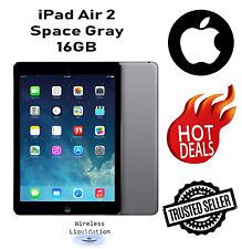 Apple - iPad Air 2 16GB Unlocked 9.7 inches - Space Gray ------- 1 Year Warranty