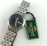 OROLOGIO ORIENT 3 STAR BNQ1S007B6 WATCH AUTOMATICO DAY DATE 21 JEWELS VINTAGE