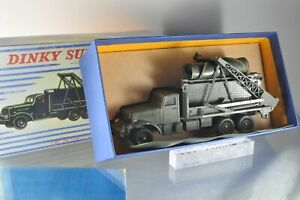 J0455 Dinky Toys France #884 Camion Militaire Brockway Poser de Pont B-/r
