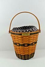 New ListingLongaberger Basket Jw Collection Miniature 2001 Edition Bankers Waste Basket Lin