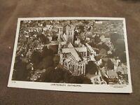 Real Photographic Kent postcard - ariel view Canterbury