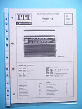 Service manual manual for ITT/Schaub-Lorenz Pony 13 ,ORIGINAL