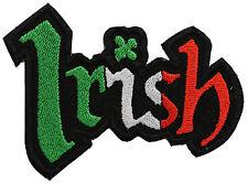 IRISH WORD FLAG BIKER PATCH