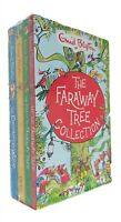 Magic Faraway Tree Enid Collection Blyton & Wishing Chair 4 Books  Pack Kids New