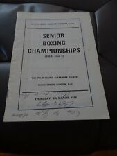 Boxing Programme - North West Senior Boxing Champs March 1979
