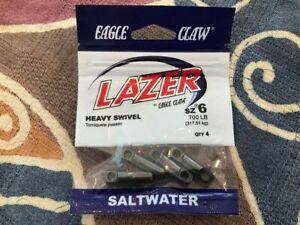 EAGLE CLAW LAZER SIZE 6 HEAVY SWIVEL 700 POUND SALTWATER NEW