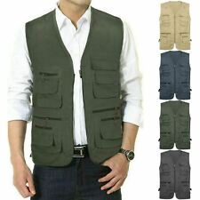 NEW MENS QUALITY WAISTCOAT SAFARI GILET JACKET FISHING HUNTING HIKING BODYWARMER