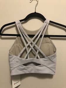 NWT Lululemon Size 8 Free To Be Serene Bra High Neck LL Special Edition Grey