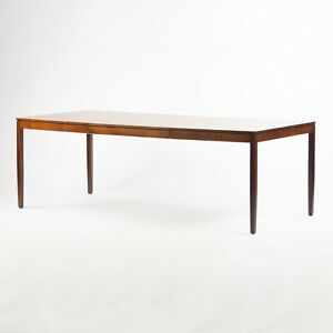 RARE 1950's Original Florence Knoll Walnut Dining Table w/ Leaf 56-84 inches